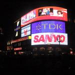 Piccadilly-Circus-Publicité-Nuit